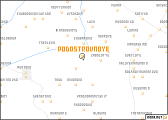 map of Podostrovnoye