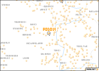 map of Podovi