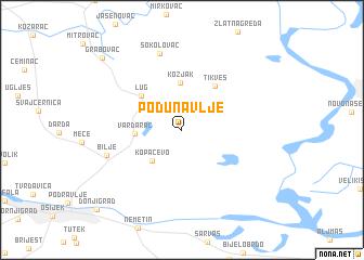 map of Podunavlje