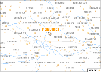 map of Podvinci