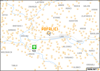 map of Pofalići