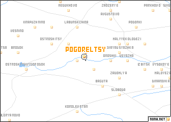map of Pogorel'tsy