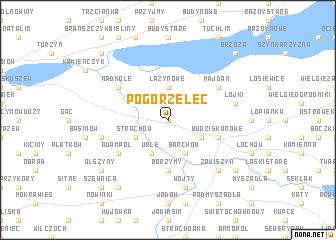 map of Pogorzelec