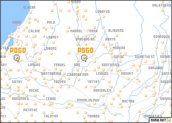 Pogo (Philippines) map - nona net