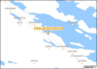 map of Pohjois-Vuokko