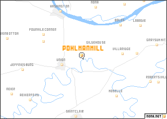 map of Pohlman Mill