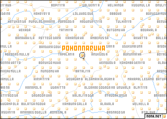 map of Pohonnaruwa