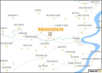 map of Pokhvisnevo