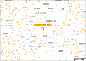 map of Pokrivenik