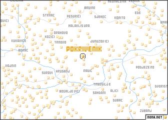 map of Pokrivenik