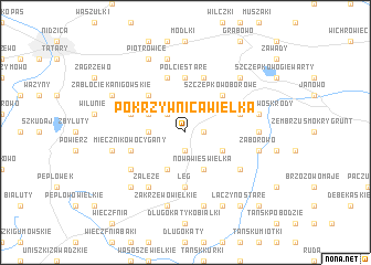 map of Pokrzywnica Wielka