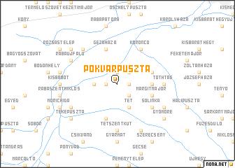 map of Pókvárpuszta