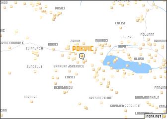 map of Pokvić