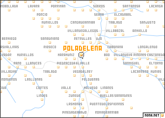 map of Pola de Lena