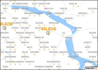 map of Połazie