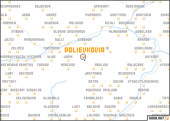 map of Polievkovia