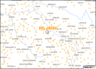 map of Poljanak