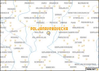 map of Poljana Vrbovečka