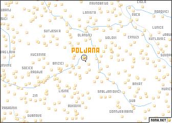 map of Poljana