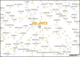 map of Poljance