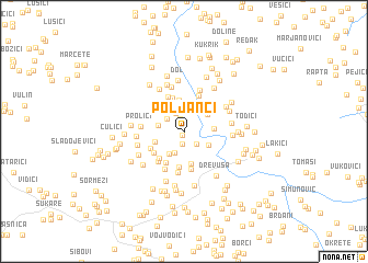 map of Poljanci