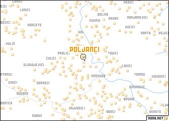 map of Poljanci
