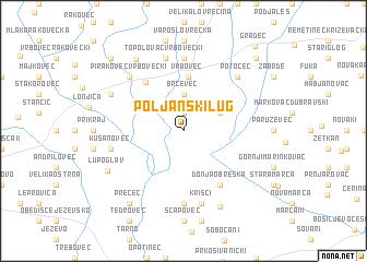 map of Poljanski Lug