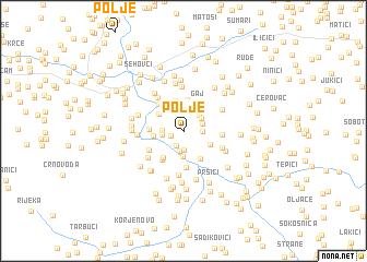 map of Polje