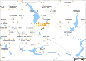 map of Połkoty