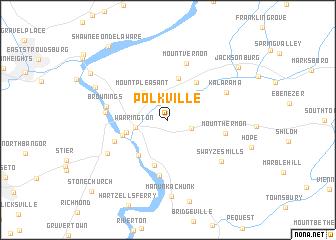map of Polkville