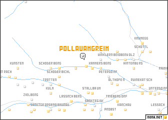 map of Pöllau am Greim