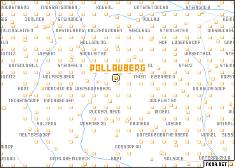 map of Pöllauberg