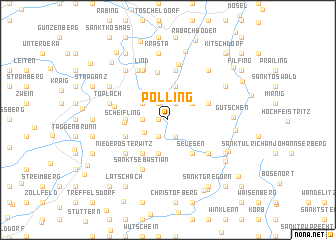 map of Pölling