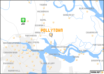 map of Polly Town