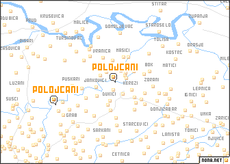 map of Polojčani