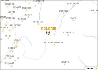 map of Polonia