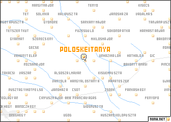 map of Pölöskeitanya