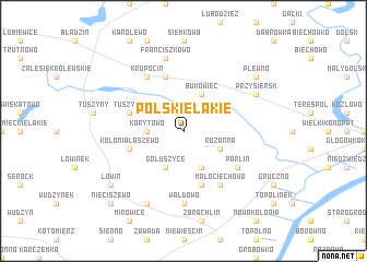 map of Polskie Łąkie