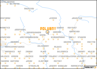 map of Polubný
