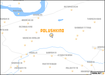 map of Polushkino