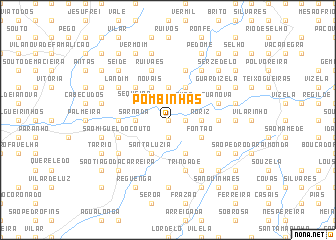 map of Pombinhas