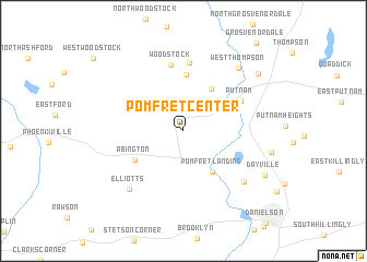 map of Pomfret Center