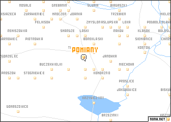 map of Pomiany