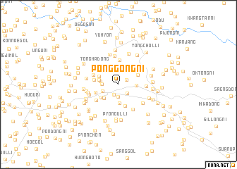 map of Ponggong-ni