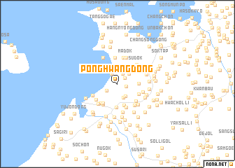 map of Ponghwang-dong