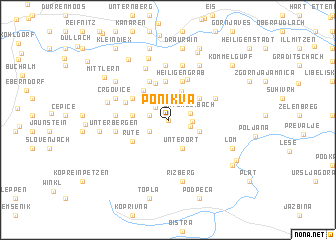 map of Ponikva