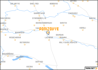 map of Ponizov'ye