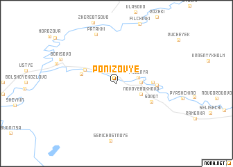 map of Ponizov\