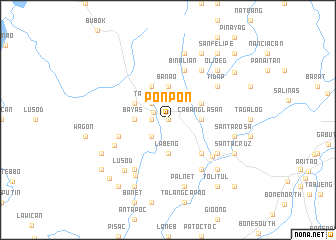 map of Ponpon