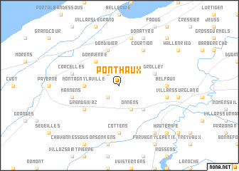 map of Ponthaux